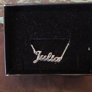 Jewelry - Mini name necklace sterling silver .925